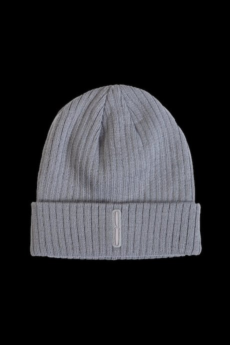 Angora beanie with turn-up