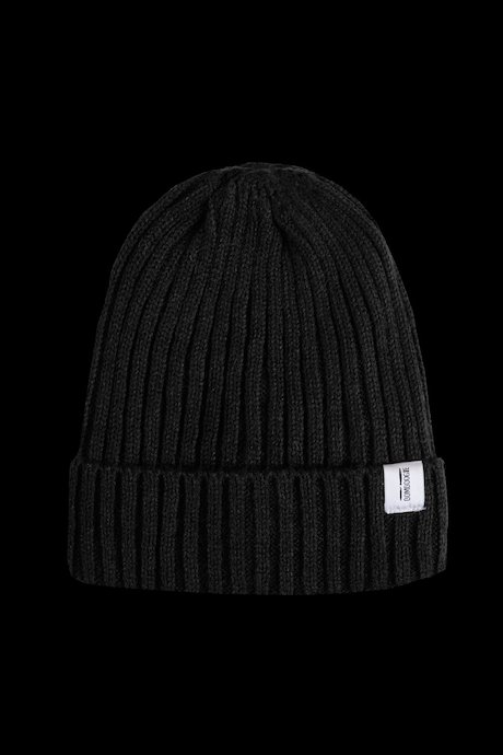 Wool beanie with turn-up