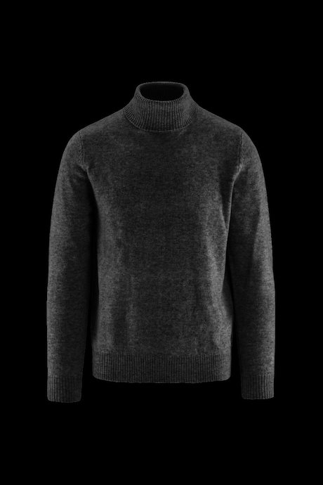 High Collar Wool Melange Sweater