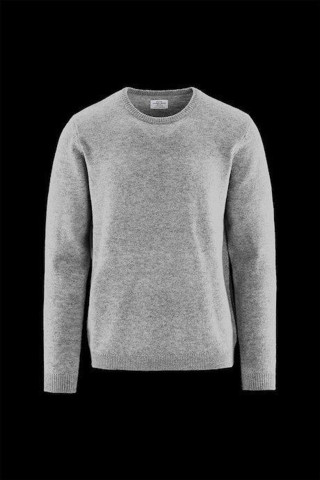 Round Collar Wool Melange Sweater
