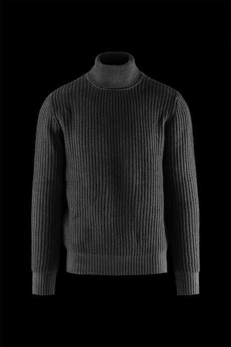 High Collar Ribbed Knit Sweater