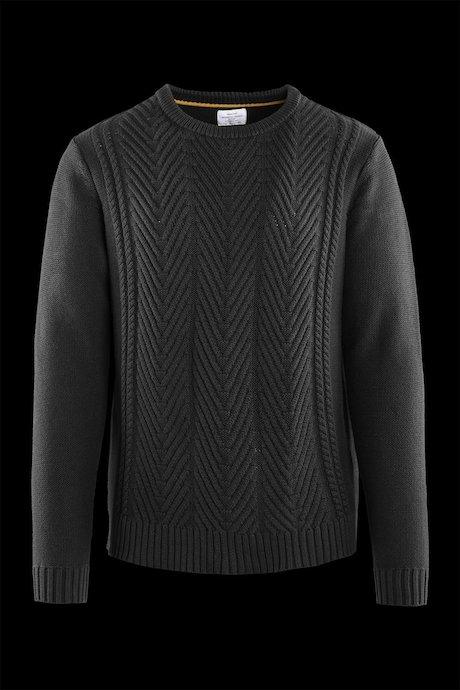 Jersey de cuello redondo de algodón