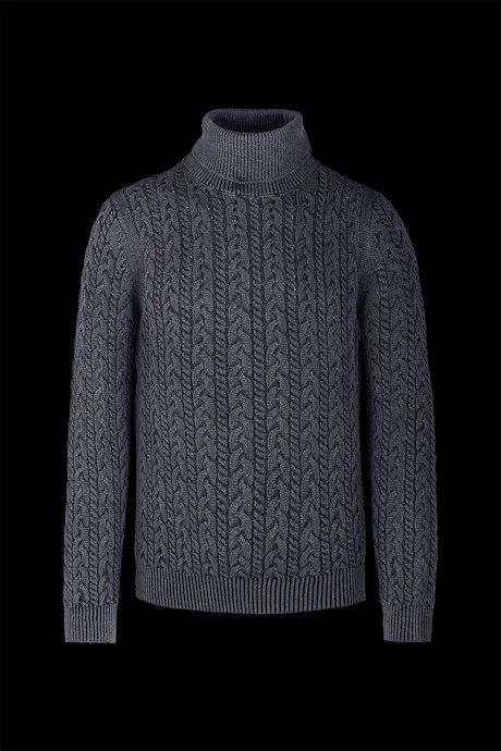 Jersey de cuello alto algodón Trenzas