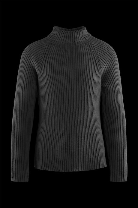 Cotton turtleneck sweater raglan sleeve