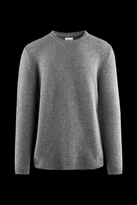 Round neck sweater wool blend
