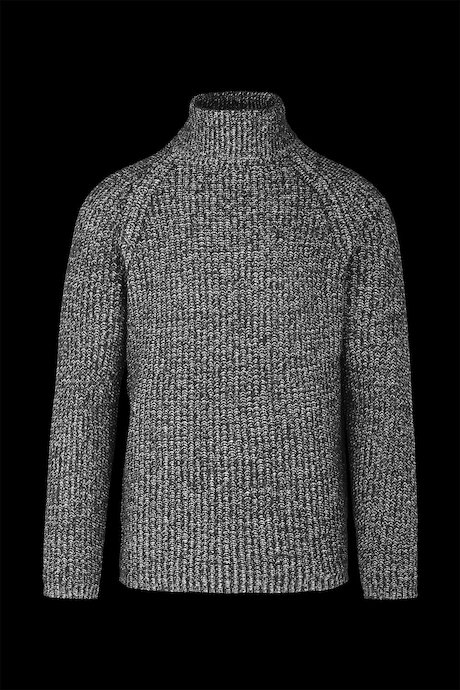 Wool blend mélange turtleneck sweater