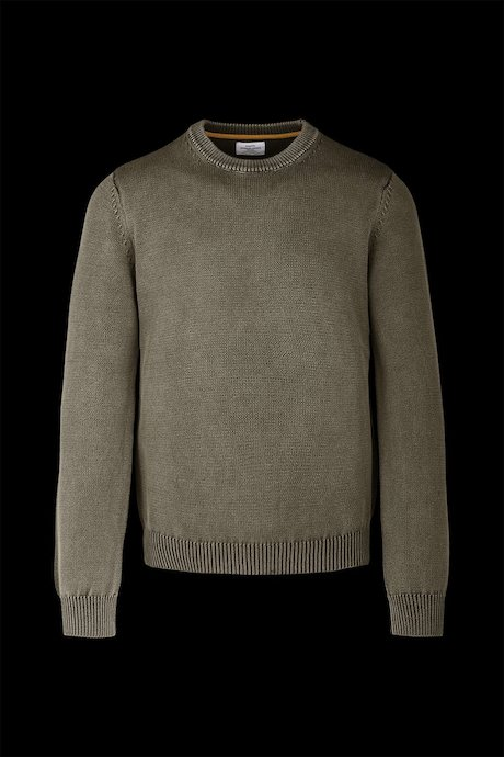 Jersey de cuello redondo en algodón