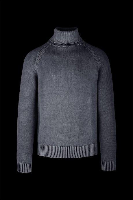 Jersey de cuello alto en algodón