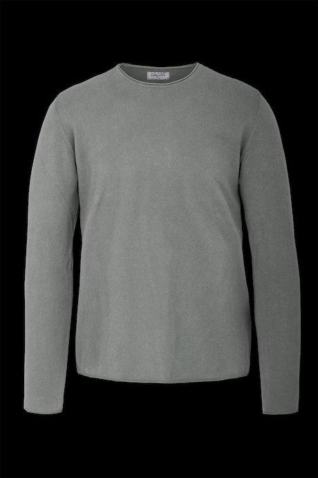 Rundhalsausschnitt Pullover aus Baumwolle