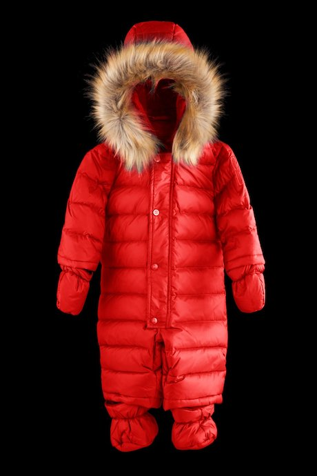 Baby snowsuit faux fur inserts