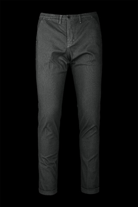 Chino trousers microprint