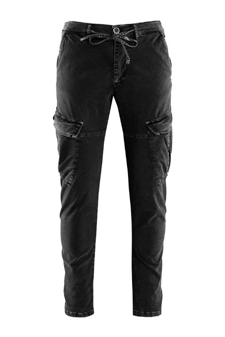 Nam pants cotton gabardine cargo pockets