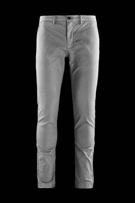 Trousers in textured stretch cotton