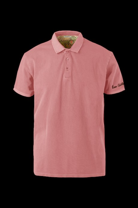 Polo shirt with embroidered lettering
