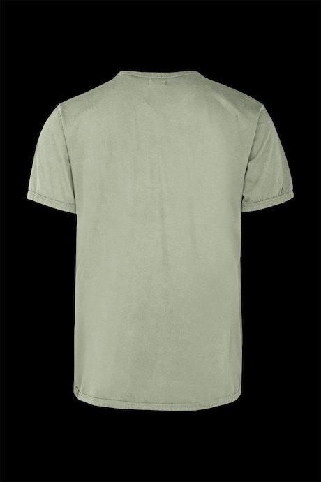 Basic T-shirt with pocket garment washed
