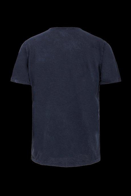 T-shirt Used Effect con Bottoni e Taschino