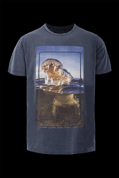 T-shirt Crocodile print