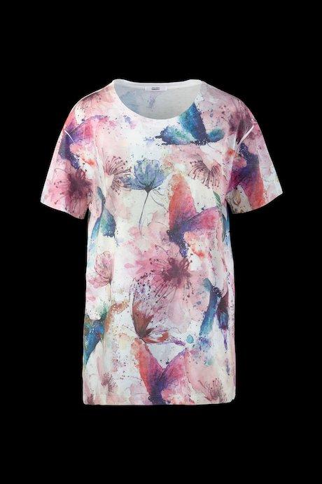 Long T-shirt floral print