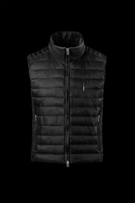 Men's down vest in nylon ripstop