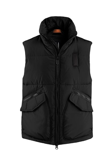 Recycled material vest down padding