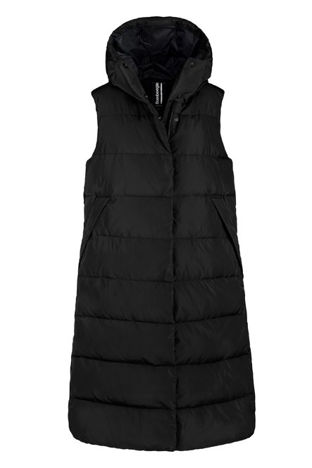 Oversized down vest in recycled fabric