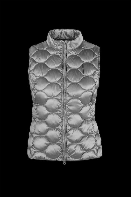 Down vest shiny fabric