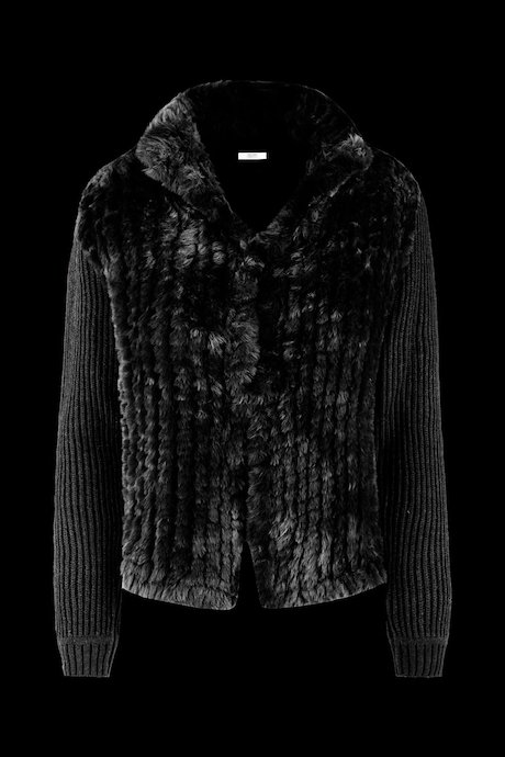 SWEATER TRICOT FAUX FUR INSERTS