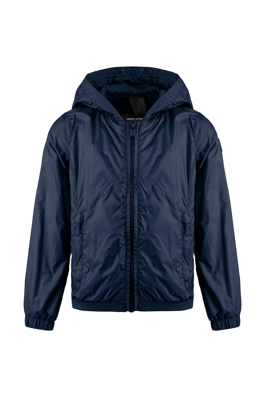 Jacket in nylon with hood