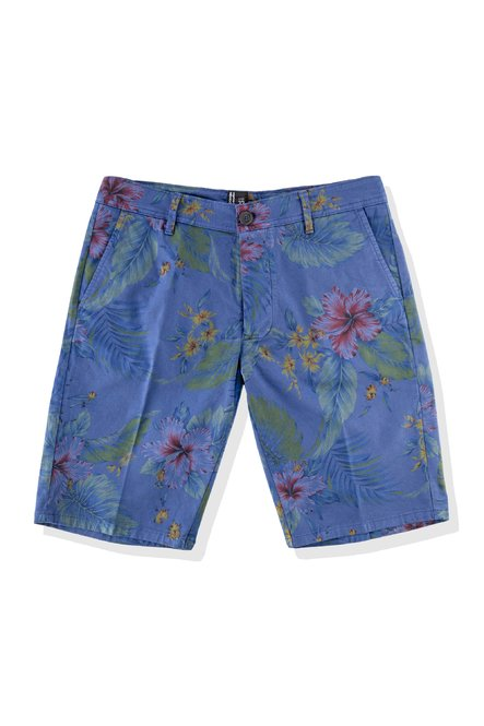 Shorts with floral print and chino pockets