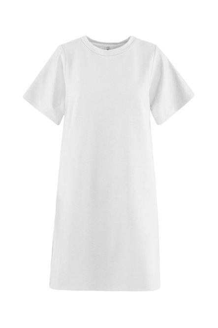 Light fleece dress round collar