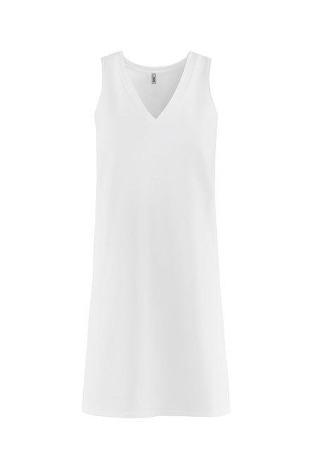 Light fleece dress V collar
