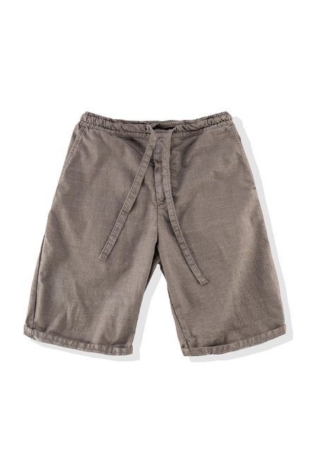 Shorts in stretch cotton with drawstring waist