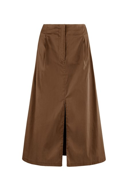 Maxi skirt with frontal tear
