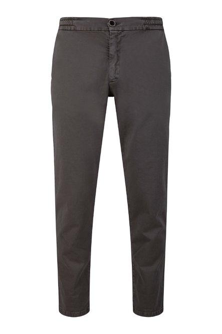 Pantaloni Jogg in Twill di Cotone con Elastico in Vita