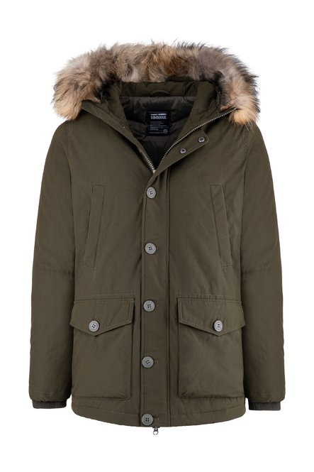 Multi-pocket Parka Hood with Fur