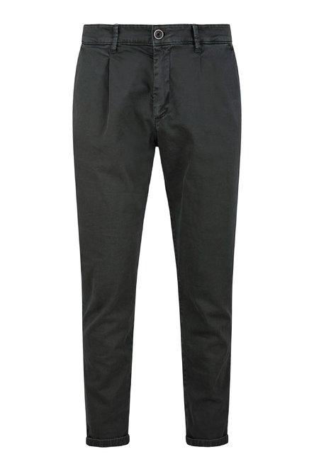 Pantaloni Dad in Twill di Cotone con Pinces