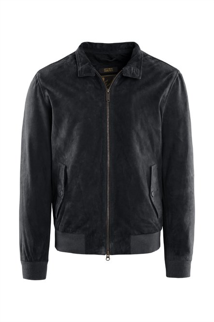 Dafi suede leather jacket