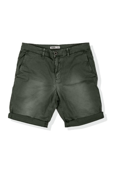 Shorts in stretch cotton twill