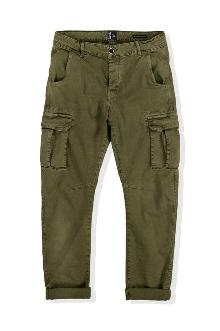 Pantaloni Gum in Twill con Tasche Cargo e Tassello