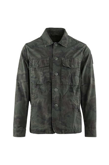 Hemdjacke mit camouflage Muster