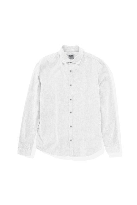 Camicia in Lino-Cotone con Collo Francese