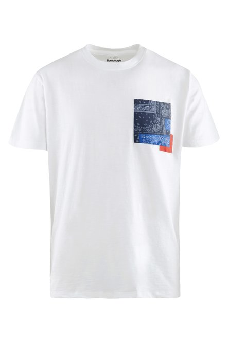 T-shirt with patterned patch