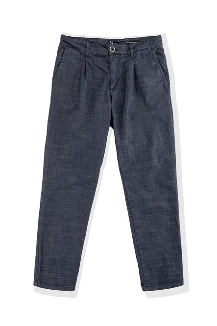 Dad trousers in stretch cotton with pleats