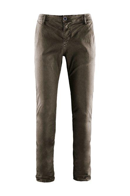 Pantaloni in Twill con Tasche Chino
