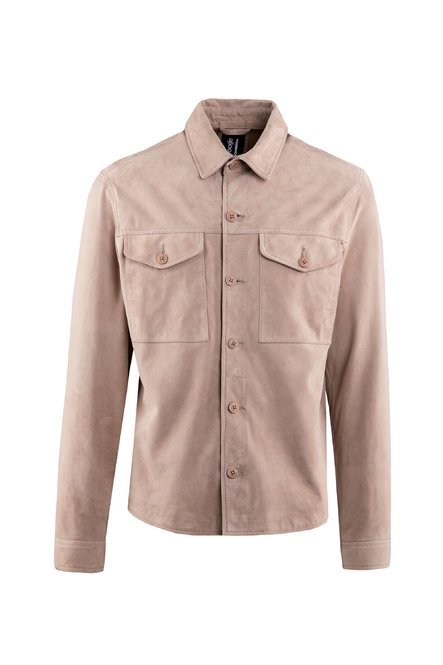 Myle suede leather shirt jacket