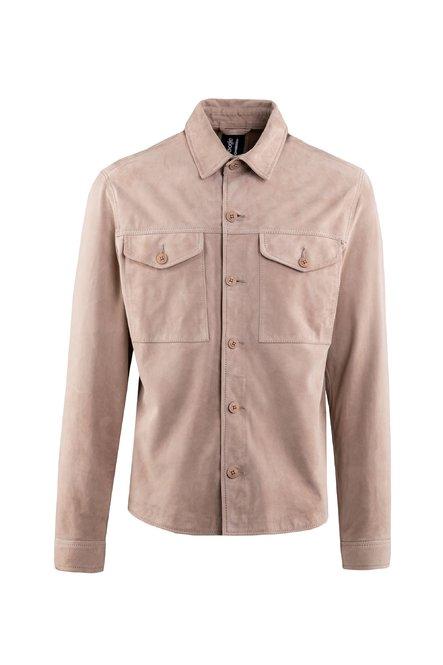 Myle suede leather shirt jacket
