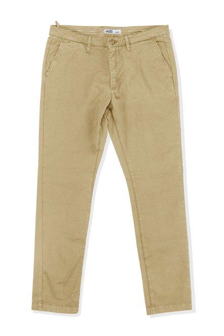 Pantaloni Well in Cotone Stretch con Tasche Chino