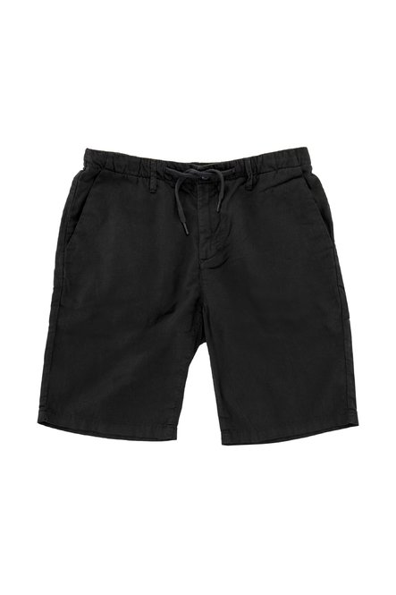 Shorts in linen with drawstring