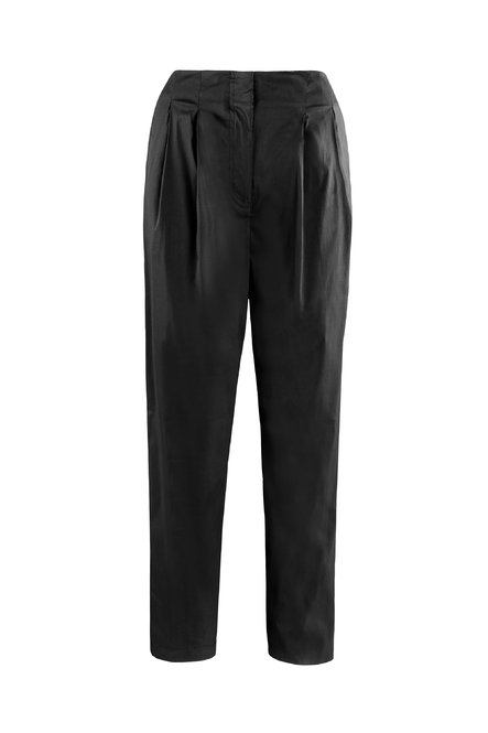 Trousers in cotton sateen