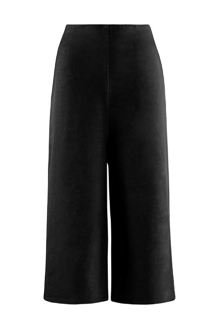 Cropped trousers in light fleece